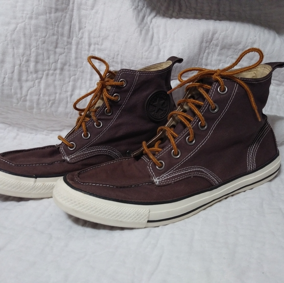 Converse High Top Brown Canvas Sneakers